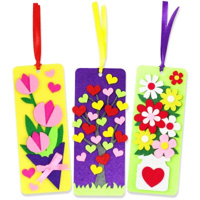 Felt Mother's Day Bookmarks