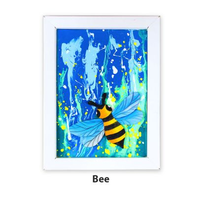 Pour Art Painting Kit With 3D Frame - Insects Theme - Bee