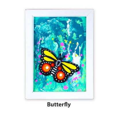 Pour Art Painting Kit With 3D Frame - Insects Theme - Butterfly