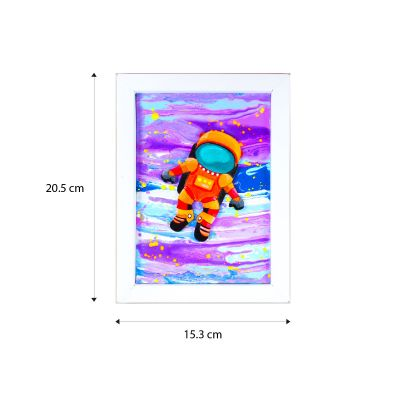 Pour Art Painting Kit With 3D Frame - Space Theme - Size
