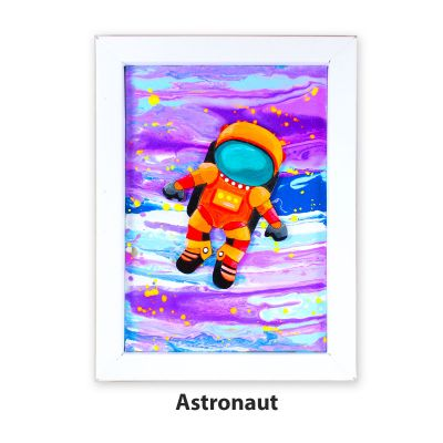 Pour Art Painting Kit With 3D Frame - Space Theme - Astronaut