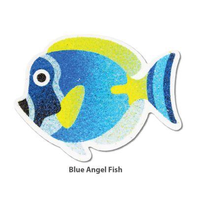 5-in-1 Sand Art Fish Board - Blue Angel Fish