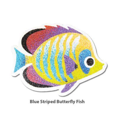 5-in-1 Sand Art Fish Board - Blue Striped Butterfly Fish
