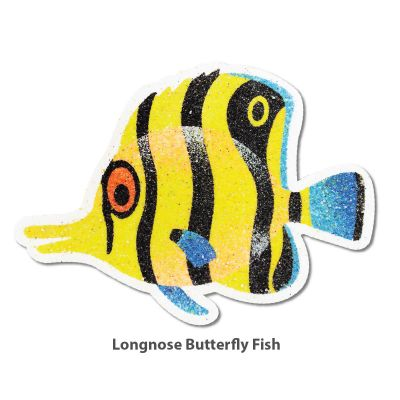 5-in-1 Sand Art Fish Board - Longnose Butterfly Fish