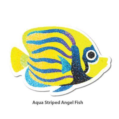 5-in-1 Sand Art Fish Board - Aqua Striped Angel Fish