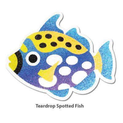 5-in-1 Sand Art Fish Board - Teardrop Spotted Fish