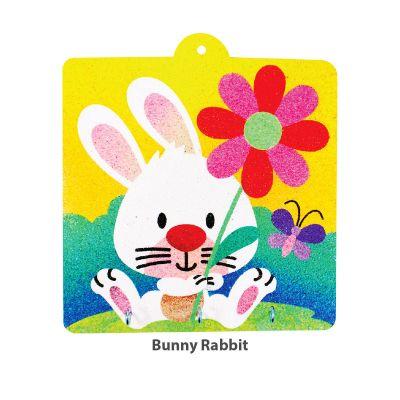 Sand Art Key Hanger Board Kit - Bunny Rabbit