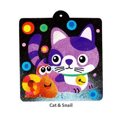 Sand Art Key Hanger Board Kit - Cat and Snail