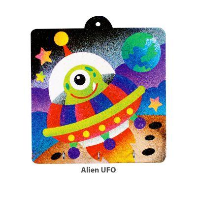 Sand Art Key Hanger Board Kit - Alien UFO