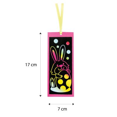 Scratch Art Easter Bookmark - Size