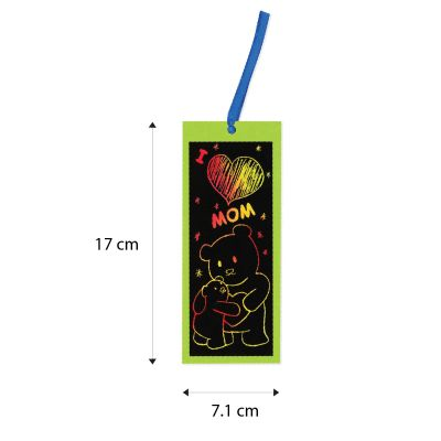 Scratch Art Mother's Day Bookmark - Size