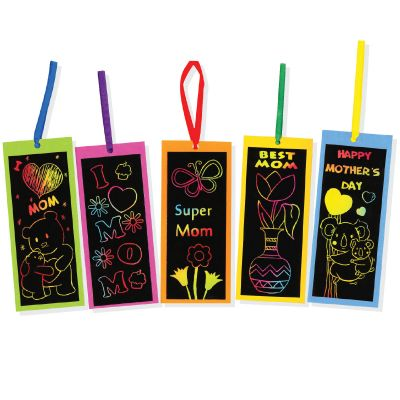 Scratch Art Mother's Day Bookmark Pack of 5