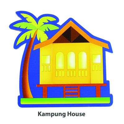 Wooden Raya Stand - Kampung House