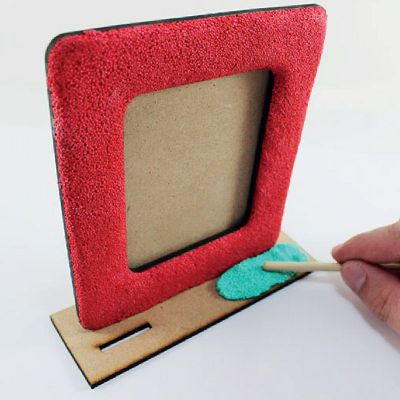 Foam Clay Photo Frame - Process
