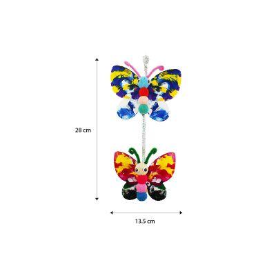 DIY Pompom Butterfly Deco - Size