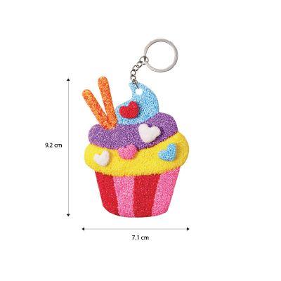 Foam Clay 2-in-1 Cupcake Keychain Size