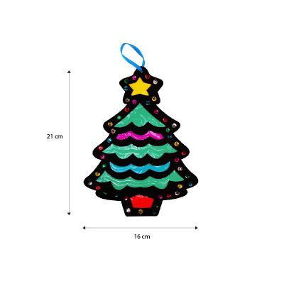 Stained Glass Christmas Hanging Deco Size