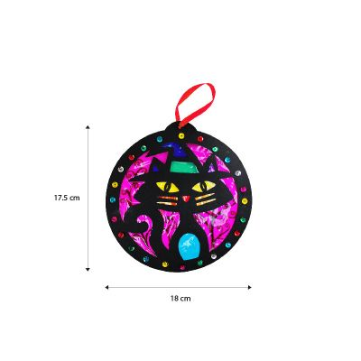 Stained Glass Halloween Hanging Deco Size