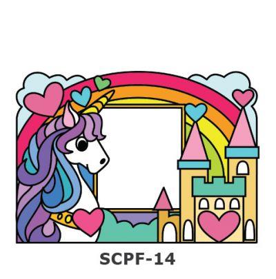 Suncatcher Photo Frame Kit - Unicorn And Castle
