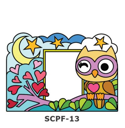 Suncatcher Photo Frame Kit - Owl
