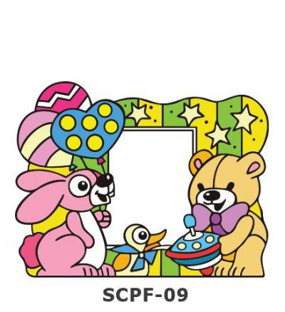 Suncatcher Photo Frame - Rabbit, Duck and Bear Birthday Party