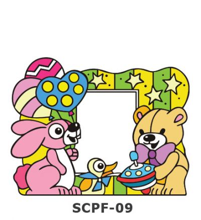 Suncatcher Photo Frame Kit - Rabbit, Duck and Bear Birthday Party