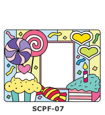 Suncatcher Photo Frame - Candy, Cakes and Lollipop Party