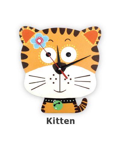 DIY Clock Painting - Kitten