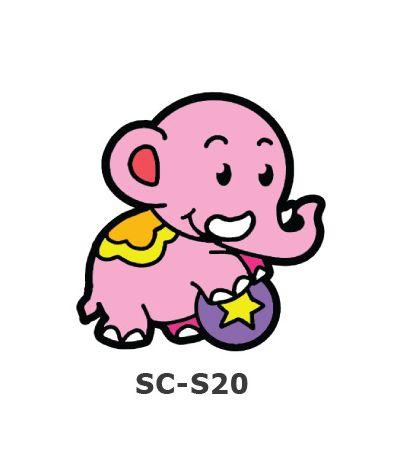 Suncatcher Small Keychain - Elephant