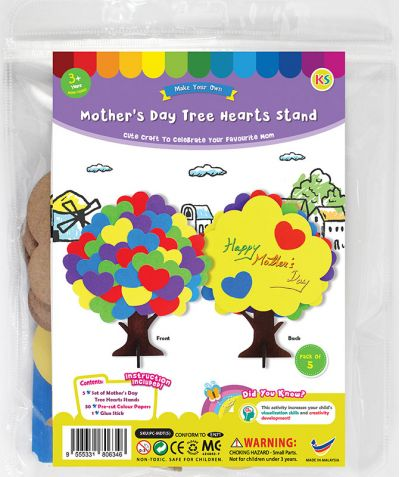 Mother's Day Tree Hearts Stand Pack of 5