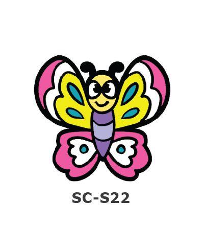 Suncatcher Small Keychain - Butterfly
