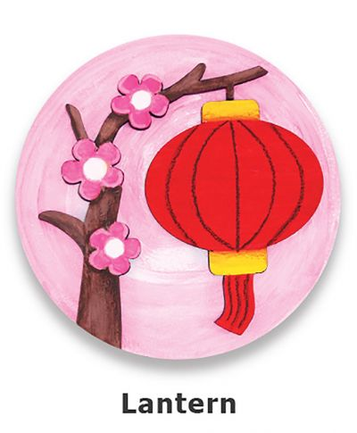 Chinese New Year Deco Board Magnet Kit - Lantern