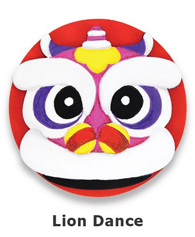 Chinese New Year Deco Board Magnet Kit - Lion Dance