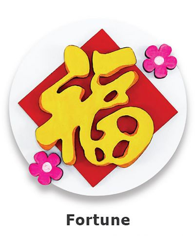 Chinese New Year Deco Board Magnet Kit - Fortune