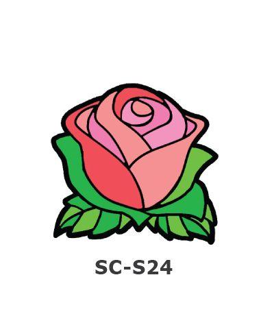 Suncatcher Small Keychain - Rose Flower