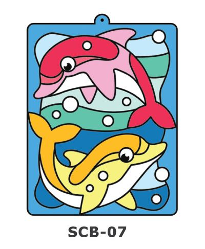 Suncatcher Board Painting Kit - Swimming Dolphins