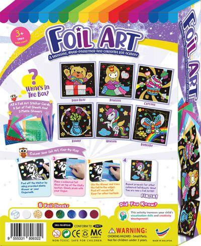 Foil Art Box Kit - 6-in-1 - Packaging BackFoil Art Box Kit - 6-in-1
