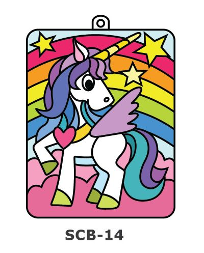 Suncatcher Board Painting Kit - Unicorn