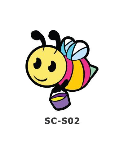 Suncatcher Small Keychain - Honey Bee