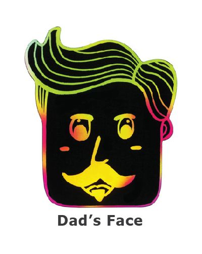 Scratch Art Father's Day - Dad's Face