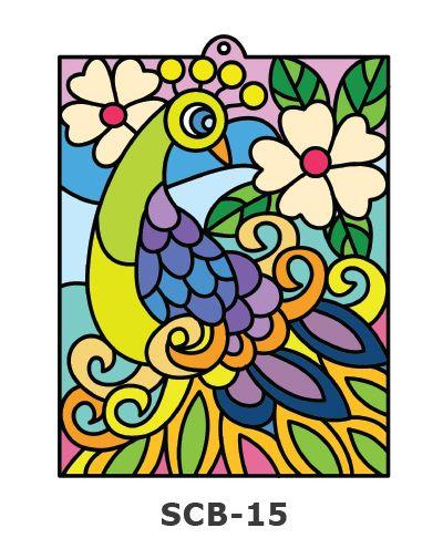 Suncatcher Board Painting Kit - Peacock