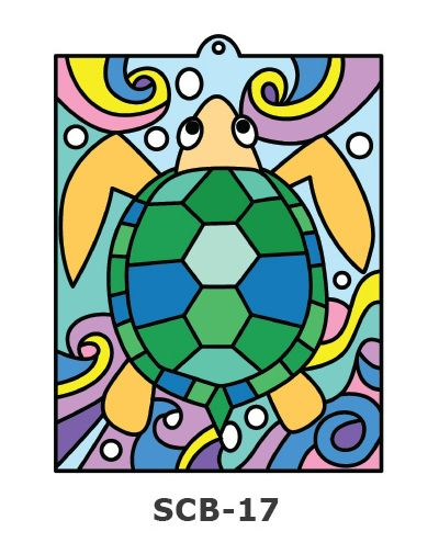Suncatcher Board Painting Kit - Turtle