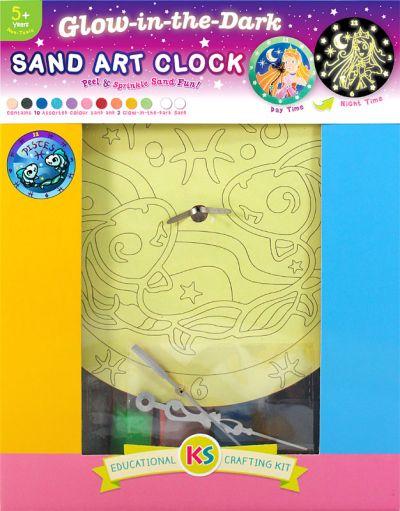 Glow-in-the-Dark Zodiac Sand Art Clock