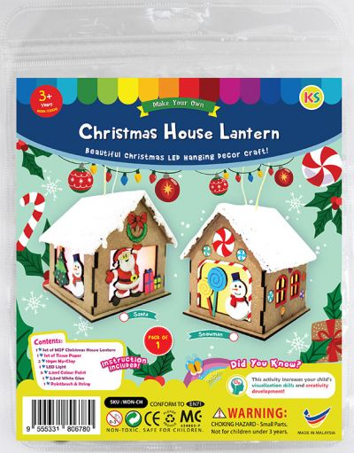 Christmas House Lantern Kit - Santa / Snowman