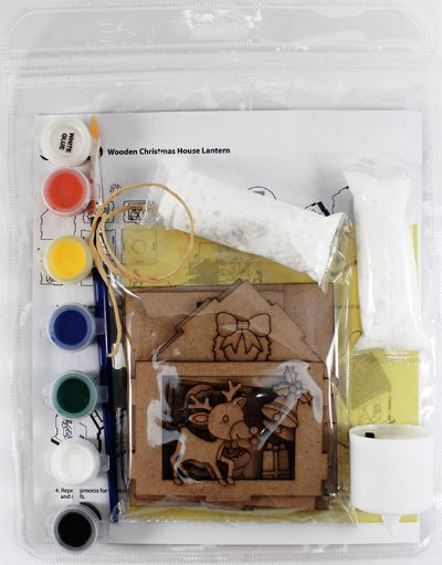 Christmas House Lantern Kit - Packaging Back