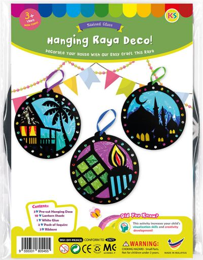 Stained Glass Hari Raya Pack of 3 - Packaging Front