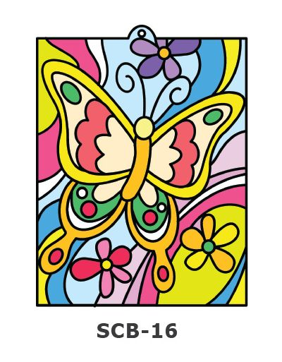 Suncatcher Board Painting Kit - Butterfly