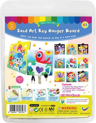 Sand Art Key Hanger Board Kit - Packaging Back