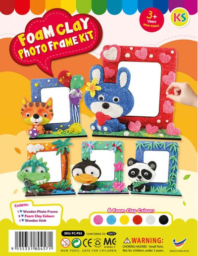 Foam Clay Photo Frame Kit - Packaging Cover