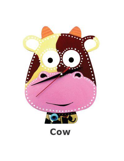 DIY Clock Painting - Cow